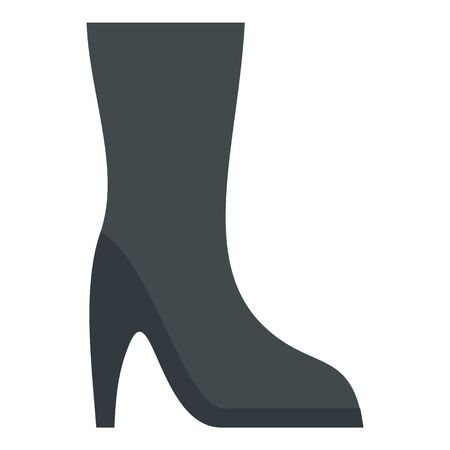 Black woman winter shoe icon, flat style Foto de archivo - 129377205