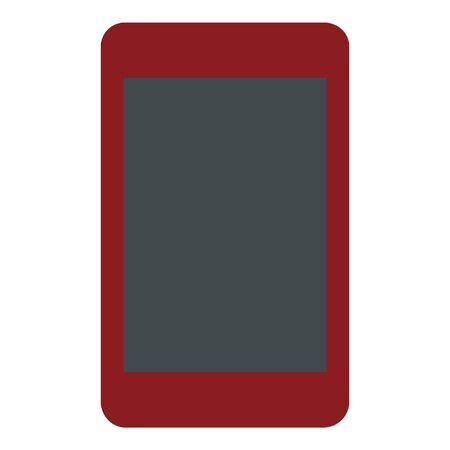 Red tablet icon, flat style