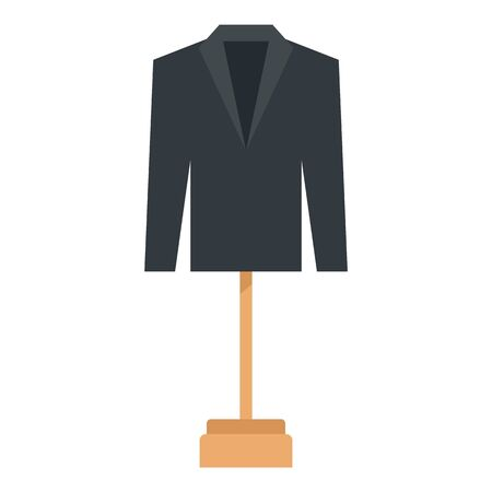 Business man blazer icon, flat style