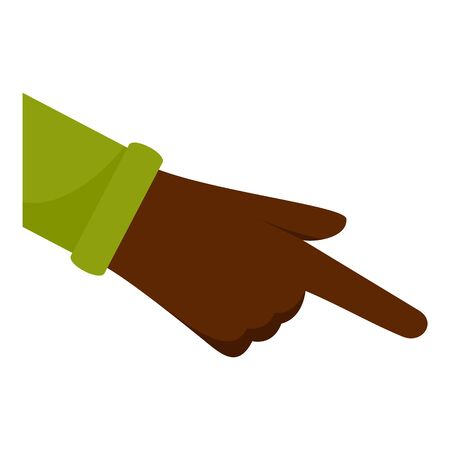 Afro american hand icon, flat style