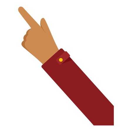 Hand finger icon, flat style