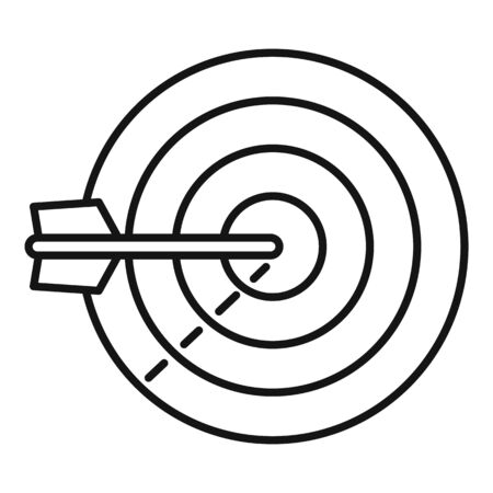 Sms marketing target icon, outline style 向量圖像