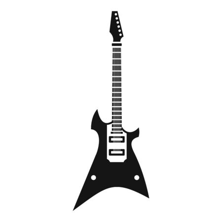 Electric guitar icon, simple style Stock Vector - 129572108