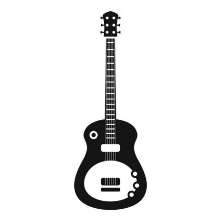 Guitar instrument icon, simple style Illustration