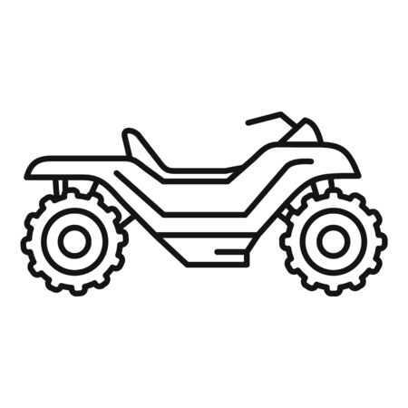 Extreme quad bike icon, outline style Illustration