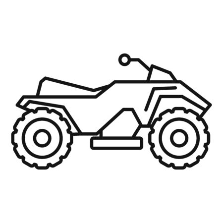 Dirt quad bike icon, outline style