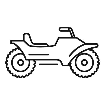 Racing quad bike icon, outline style Иллюстрация