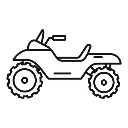 Atv quad bike icon, outline style