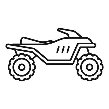 Challenge quad bike icon, outline style  イラスト・ベクター素材