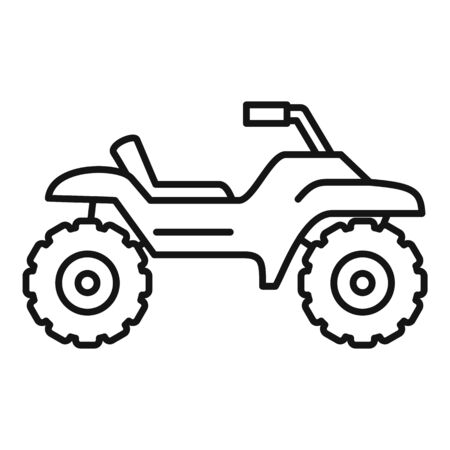 Dirt tire quad bike icon, outline style