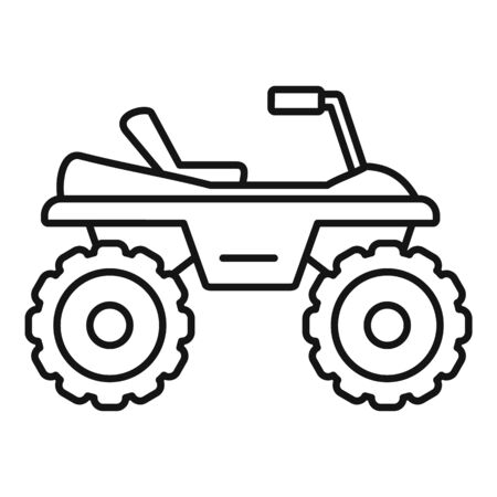 Dirtbike icon, outline style Illustration
