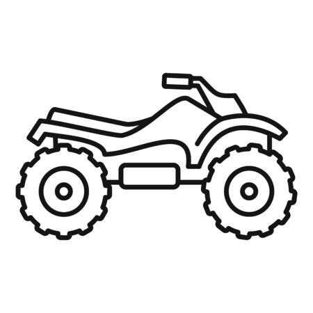 Ride quad bike icon, outline style