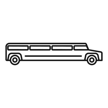 Wedding limousine icon, outline style