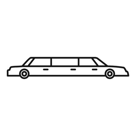 Limousine service icon, outline style 일러스트