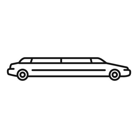 Modern limousine icon, outline style