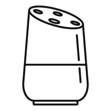 Future smart speaker icon, outline style