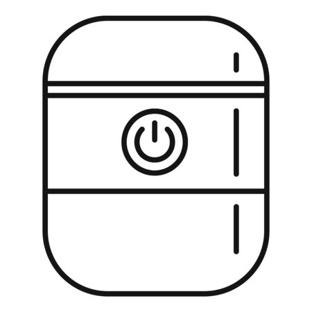 System smart speaker icon, outline style