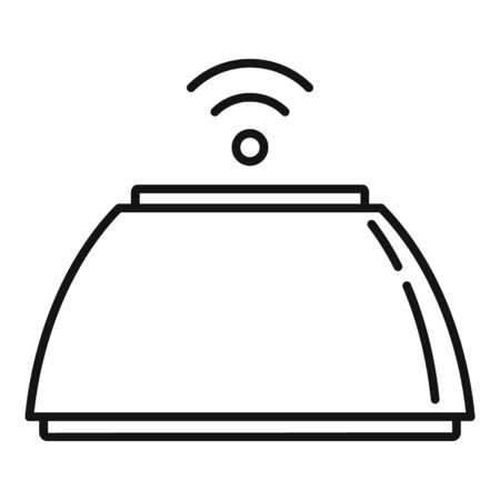 Smart speaker icon, outline style Ilustração