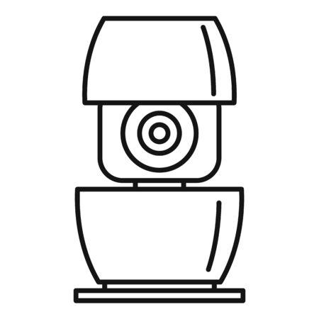 Life smart speaker icon, outline style Çizim