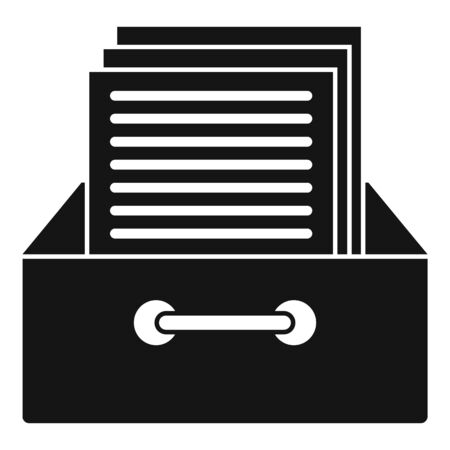 Archive papers icon, simple style