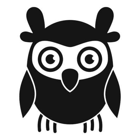 Knowledge owl icon, simple style