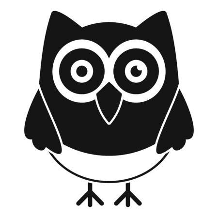 Night owl icon, simple style