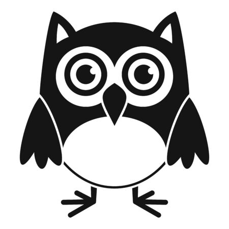 Nature owl icon, simple style