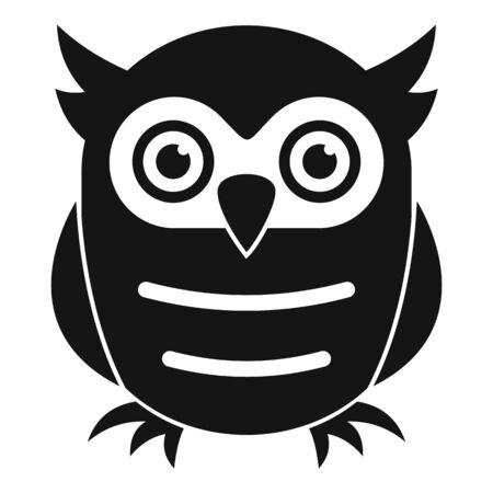 Education owl icon, simple style Иллюстрация