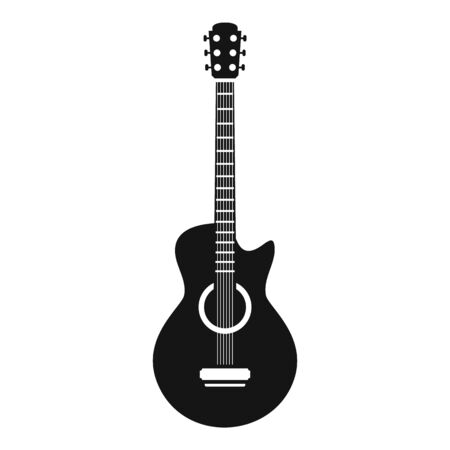 Guitar icon, simple style
