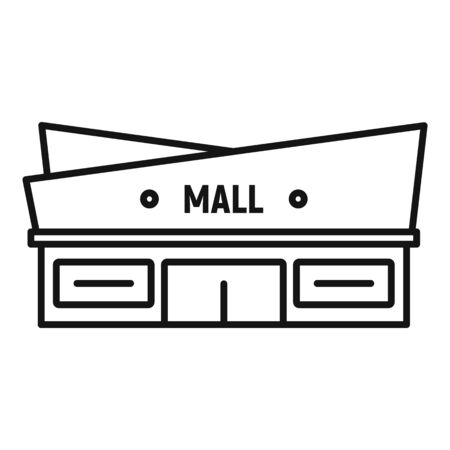 Facade mall icon, outline style Stock Illustratie