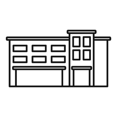 Commercial mall icon, outline style Stock Illustratie