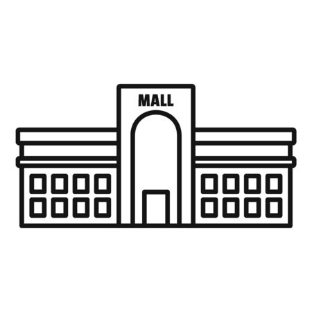 Business mall icon, outline style