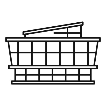 Mall icon, outline style Stock Illustratie