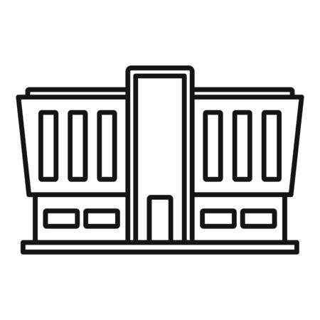 Mall building icon, outline style Stock Illustratie