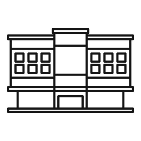 Shopping mall icon, outline style Illustration