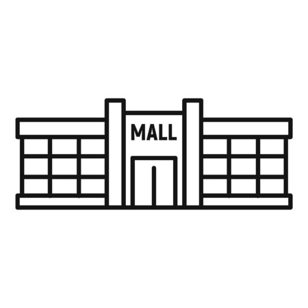 Retail mall icon, outline style