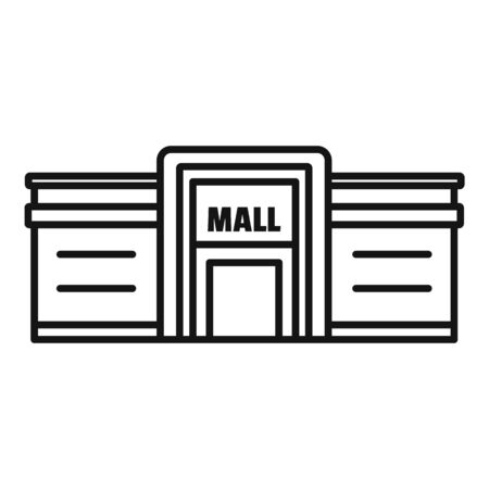 Supermarket mall icon, outline style