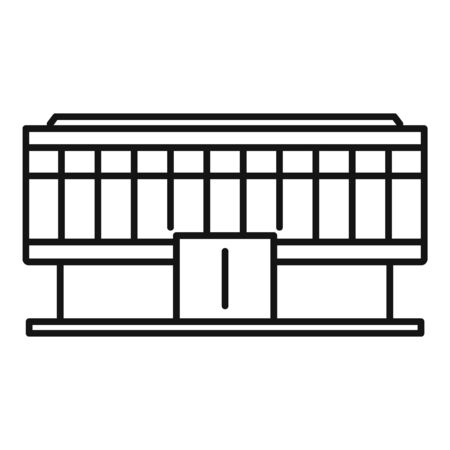 Office business mall icon, outline style