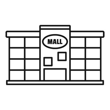 Local city mall icon, outline style