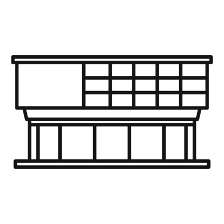 Window glass mall icon, outline style