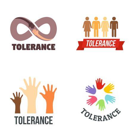 Tolerance  set, flat style