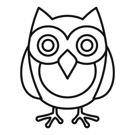 Knowledge owl icon, outline style