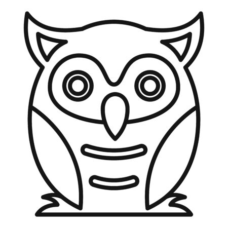 Nature owl icon, outline style