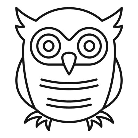 Education owl icon, outline style Banque d'images - 129578891
