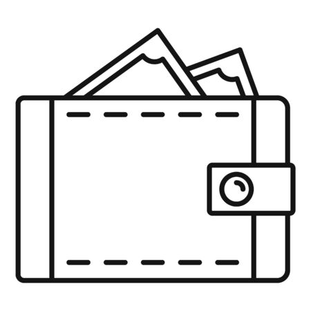 Wallet icon, outline style Banque d'images - 129578979
