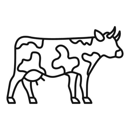Cow icon, outline style 일러스트