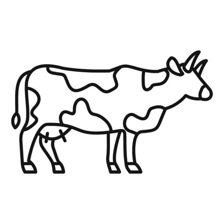 Milk cow icon, outline style