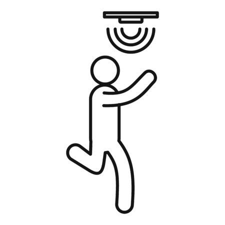 Motion sensor icon, outline style