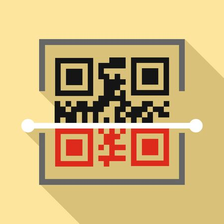 Scan qr code icon, flat style 스톡 콘텐츠 - 129587313