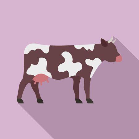 Cow icon, flat style 일러스트